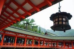 在宫岛专区的老寺庙 免版税库存照片