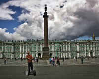 在宫殿正方形 免版税库存图片
