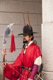 在宫殿的韩文卫兵 库存照片