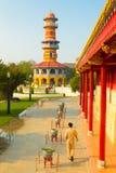 在宫殿眺望台的轰隆Pa与塔 免版税库存图片