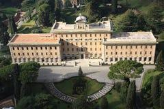 在宫殿罗马梵蒂冈里面的gourgeos 免版税库存照片