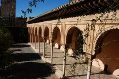 在宫殿里面的阿尔汉布拉 免版税库存照片