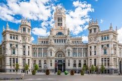 在宫殿Cybele的看法在马德里 库存图片