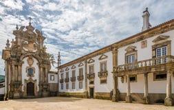 在宫殿Mateus教堂的看法在维拉附近的真正在葡萄牙 免版税库存照片