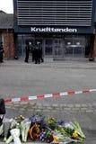 在害怕的COPENHAGEN_NOT的恐怖 库存照片