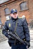 在害怕的COPENHAGEN_NOT的恐怖 免版税库存图片