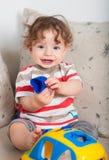 在家使用的男婴 免版税库存图片
