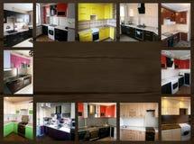 在家具题材的拼贴画  厨房 库存图片