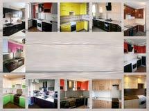 在家具题材的拼贴画  厨房 库存照片