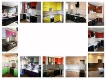 在家具题材的拼贴画  厨房 免版税库存照片