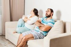 在家庭的冲突情况 库存照片
