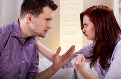 在家庭的暴力 库存照片