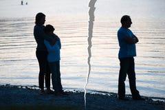 在家庭的离婚 免版税库存照片