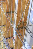 在家脚手架的木板条有金属的 免版税库存图片