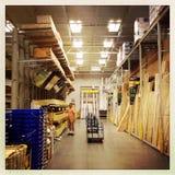 在家购物木头改善商店 免版税图库摄影