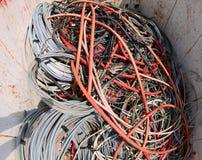 在容器的大电缆 免版税库存图片