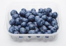 在容器的新鲜的健康有机蓝莓 库存图片