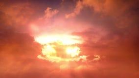 在宽天空的移动的云彩时间间隔 影视素材