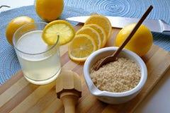 在宽风景的柠檬水必要 免版税图库摄影