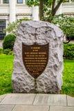 在宾夕法尼亚,费城丧生的美军士兵的一个坟场 免版税库存照片