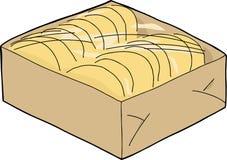 在密封盒的炸玉米饼壳 图库摄影
