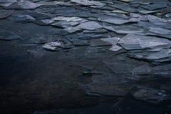 在密歇根湖的冰 免版税库存图片