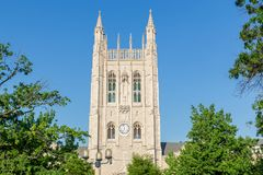在密苏里大学的纪念联合塔 免版税库存图片