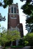 在密西根州立大学校园里的贝尔蒙特塔东兰辛的密执安 免版税库存图片