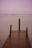 在密西西比河的码头 库存图片