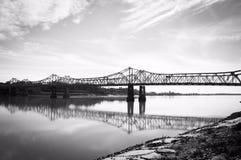 在密西西比河的Natchez-Vidalia桥梁 免版税库存图片