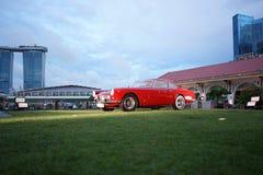 在富乐顿6月的29日海湾旅馆显示在围场的超级汽车 免版税库存照片