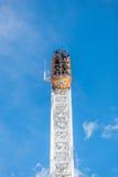 在富士Q高地游乐园的沿海航船 免版税库存照片