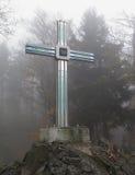 在富尔特伊姆瓦尔德附近的玻璃十字架在Bayerischer瓦尔特 库存照片