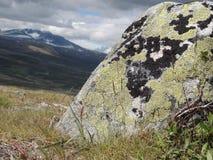 在寒带草原平原的石头 免版税库存图片
