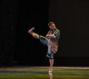 在对学校现代舞蹈的途中 免版税库存图片