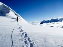 在对山顶的途中 库存图片