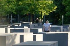 在对欧洲的被谋杀的犹太人的纪念品 库存照片