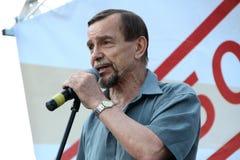 在对立会议的人权活动家列弗Ponomarev 库存照片