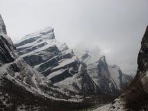 在对Annapurna基本阵营的途中 免版税库存图片