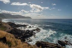 在对Kaena点的途中,奥阿胡岛 库存图片
