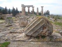 在寺庙前面的废墟 库存照片