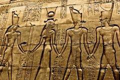 在寺庙卢克索的象形文字 库存图片