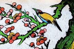 在寺庙墙壁上的艺术中国式 库存照片