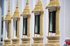 在寺庙泰国的窗口 免版税库存图片