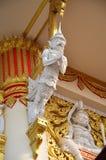在寺庙泰国的雕刻和雕塑监护人泰国样式 免版税库存图片