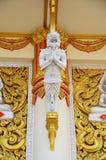 在寺庙泰国的雕刻和雕塑监护人泰国样式 免版税库存照片