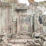 在寺庙的一个门 免版税图库摄影