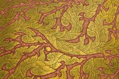 在寺庙的传统泰国样式艺术绘画 库存照片