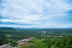 在寺庙的城市视图在南奔,泰国 免版税库存照片