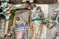 在寺庙的外部的中国家庭装饰品 免版税库存照片